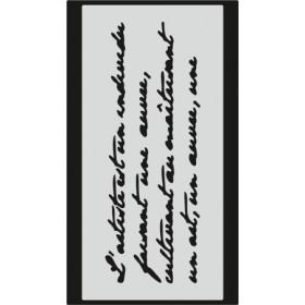 S087 Stencil 9x16 cm