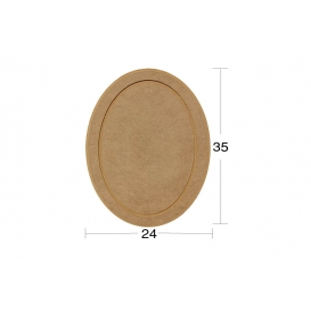 Oval Supla (Servislik) Ahşap Obje