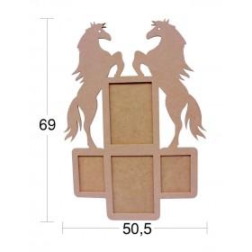 Atlı Resim Çerçevesi 69x50cm