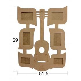 Gitar 6'lı Resim Çerçevesi 69x50cm