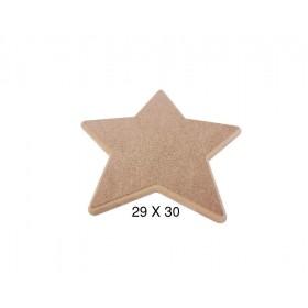 Yıldız Pano Ahşap Obje 30x29cm