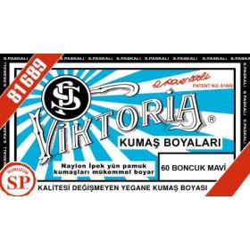 Viktoria Toz Kumaş Boyası 60 Boncuk Mavi