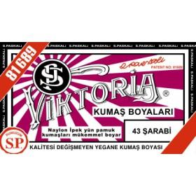 Viktoria Toz Kumaş Boyası 43 Şarabi