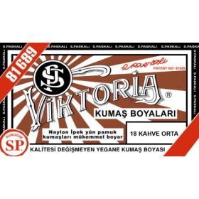 Viktoria Toz Kumaş Boyası 18 Kahve Orta