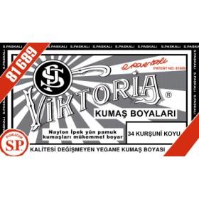 Viktoria Toz Kumaş Boyası 34 Kurşuni Koyu
