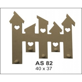 Bacalı Çit Askılık Ahşap Obje  AS82