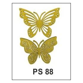 Lazer Kesim Ahşap Süs PS88 İşlemeli Kelebekler
