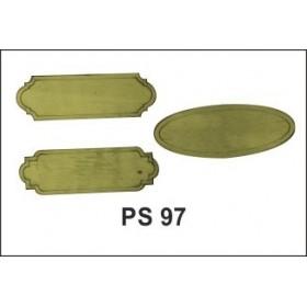 Lazer Kesim Ahşap Süs PS97 3'lü Tabela