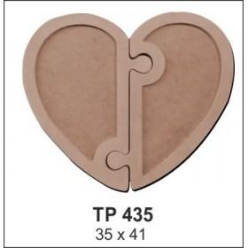 Puzzle Kalp Sunumluk Tepsi Ahşap Obje