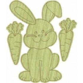 Sevimli Tavşan Paket Süs Ahşap Obje KD-268