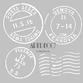 Artdeco Stencil  Italy Posta 30x30cm-ST114