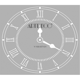 Artdeco Stencil  Saat 30x30cm -ST131