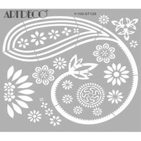 Artdeco Stencil  Şal Desen 30x30cm -ST129