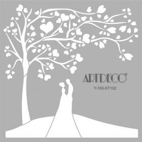 Artdeco Stencil Aşıklar 30x30cm -ST102