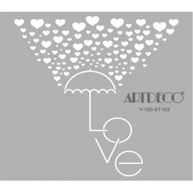 Artdeco Stencil Aşk Şemsiye 30x30cm -ST103