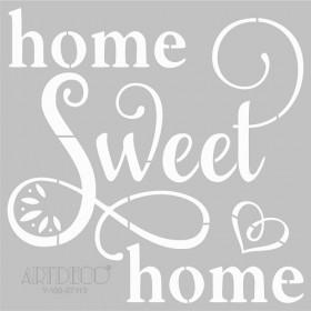 Artdeco Stencil Home Sweet Home 30x30cm -ST113