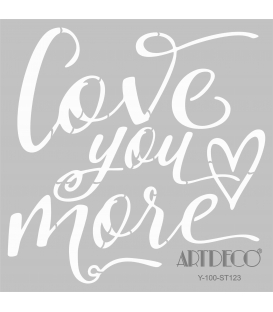 Artdeco Stencil Love You More 30x30cm-ST123