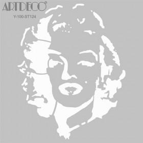 Artdeco Stencil Marilyn Monroe 30x30cm-ST124