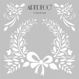 Artdeco Stencil Organik 30x30cm-ST126
