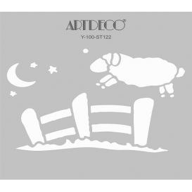 Artdeco Stencil Uykucu Kuzu 30x30cm-ST122