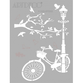 Artdeco Stencil A4 21x29cm Bisiklet -ST202