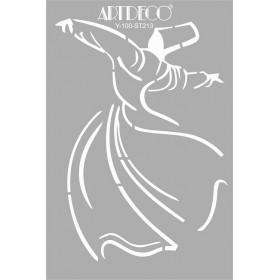 Artdeco Stencil A4 21x29cm Semazen -ST213