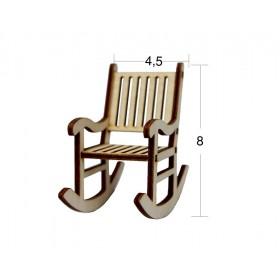 Sallanan Sandalye Minyatür Ahşap Obje MN 03
