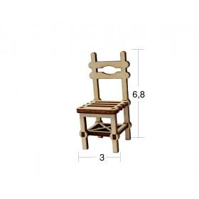 Kahveci Sandalye Minyatür Ahşap Obje MN 04