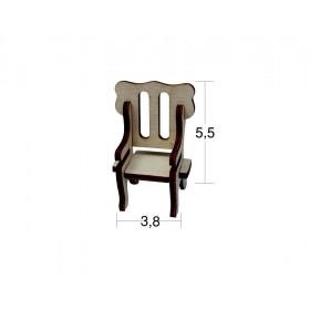 Banket Sandalye Minyatür Ahşap Obje MN 05