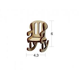 Sallanan Sandalye Çocuk Minyatür Ahşap Obje MN 07