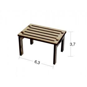 Çizgili Masa Minyatür Ahşap Obje MN 12