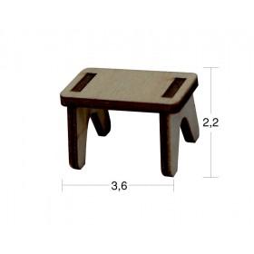 Dikdörtgen tabure Minyatür Ahşap Obje MN 18