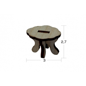 Mini Sehpa Minyatür Ahşap Obje MN 19