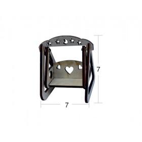 Kalpli Salıncak Minyatür Ahşap Obje MN 23
