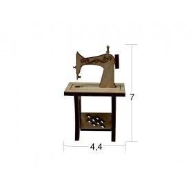 Dikiş Makinesi Minyatür Ahşap Obje MN 26
