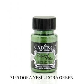 Cadence Dora Glass Metalik Cam Boyası 3135 DORA YEŞİL  50ml