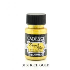 Cadence Dora Glass Metalik Cam Boyası 3136 RICH GOLD 50ml