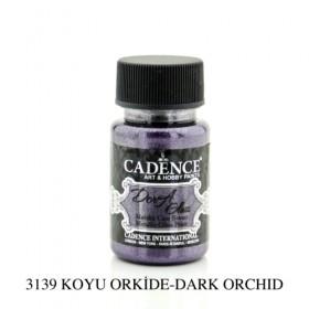 Cadence Dora Glass Metalik Cam Boyası 3139 KOYU ORKİDE 50ml