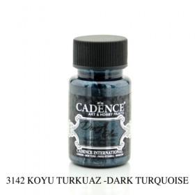 Cadence Dora Glass Metalik Cam Boyası 3142 TURKUAZ 50ml