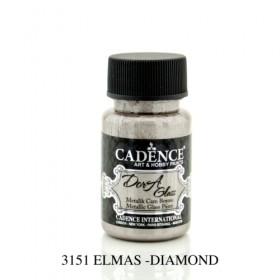 Cadence Dora Glass Metalik Cam Boyası 3151 ANTİK PEMBE 50ml