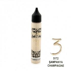 Cadence Dora 3D Metalik Boncuk Boya 5172 Şampanya