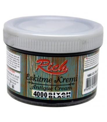 Rich Eskitme Kremi/Antique Cream 4000 Siyah 160cc
