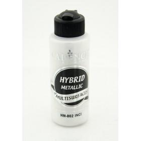 Cadence Hybrid METALİK Akrilik Multisurface HM-802 İNCİ 120ml