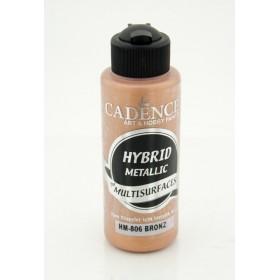 Cadence Hybrid METALİK Akrilik Multisurface HM-806 BRONZ 120ml