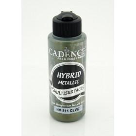 Cadence Hybrid METALİK Akrilik Multisurface HM-811 CEVİZ 120ml