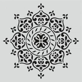 H002 Mandala Dantel Stencil 25x25