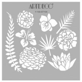 Artdeco Stencil  Botanik 30x30cm -ST104