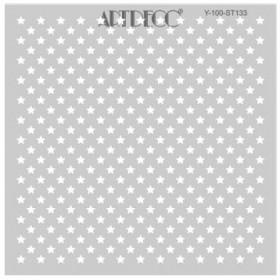 Artdeco Stencil Yıldızlar 30x30cm -ST133