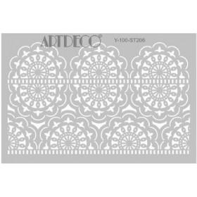 Artdeco Stencil A4 21x29cm Dantel-1 -ST206