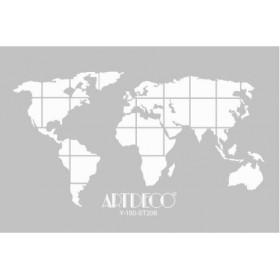 Artdeco Stencil A4 21x29cm Dünya Haritası -ST208